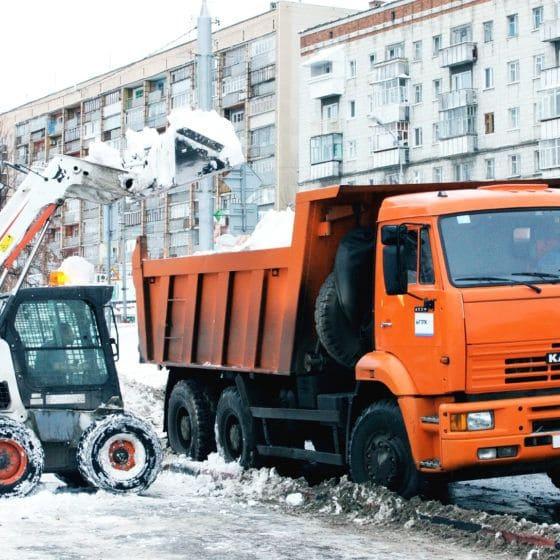 вывоз снега в Москве и Подмосковье